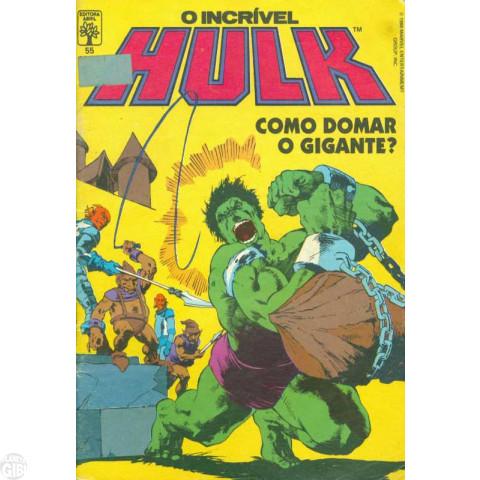 Incrível Hulk [Abril - 1ª série] nº 055 jan/1988