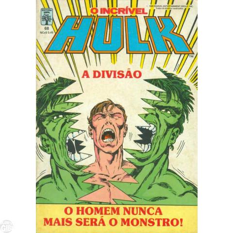 Incrível Hulk [Abril - 1ª série] nº 068 fev/1989