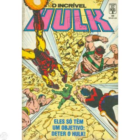Incrível Hulk [Abril - 1ª série] nº 069 mar/1989 - Vide detalhes