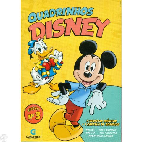 Kit Disney Culturama 003 jun/2019 As 5 Mensais + Caixa + Adesivos