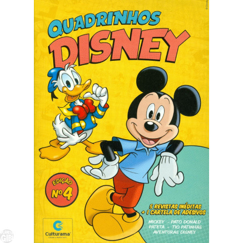 Kit Disney Culturama 004 jul/2019 As 5 Mensais + Caixa + Adesivos