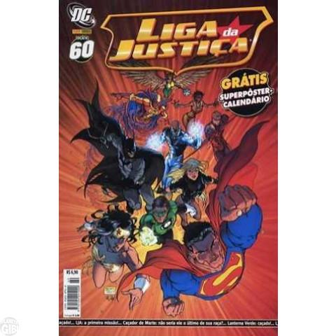 Liga da Justiça [Panini - 1ª série] nº 060 nov/2007 - com brinde original Pôster