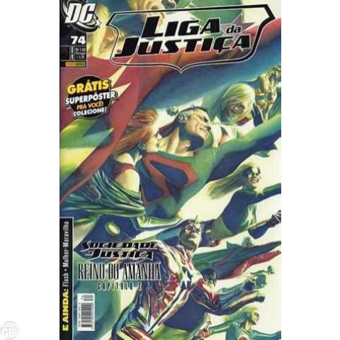 Liga da Justiça [Panini - 1ª série] nº 074 jan/2009 - com brinde original Pôster