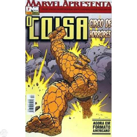 Marvel Apresenta [Panini - 1ª série] nº 007 ago/2003 - O Coisa: Circo de Horrores - Leia os detalhes abaixo