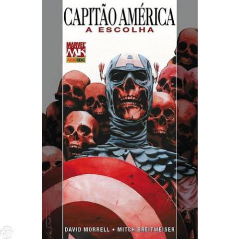 Marvel Collection [Panini] nº 002 mai/2010 Capitão América A Escolha - Capa Dura e Pôster