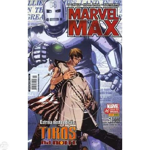 Marvel Max [Panini 1ª série] nº 051 nov/2007 Justiceiro, Tiros na Noite, O Capuz, Nova Onda