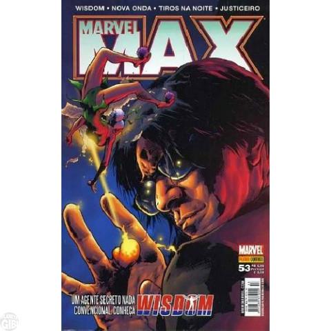 Marvel Max [Panini - 1ª série] nº 053 jan/2008 - Justiceiro | Tiros na Noite | Wisdom | Nova Onda