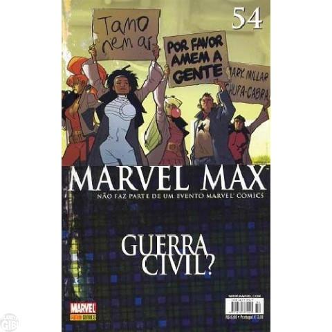 Marvel Max [Panini - 1ª série] nº 054 fev/2008 - Justiceiro | Tiros na Noite | Wisdom | Nova Onda
