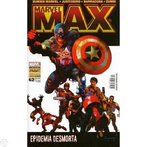 Marvel Max [Panini - 1ª série] nº 062 out/2008 - Zumbis Marvel | Zumbi | Justiceiro | Barracuda