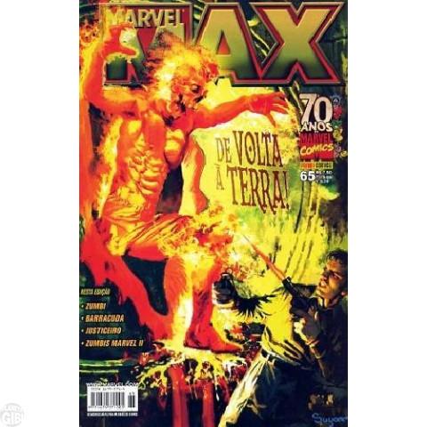 Marvel Max [Panini 1ª série] nº 065 jan/2009 Zumbis Marvel 2, Zumbi, Justiceiro, Barracuda [+Pôster]