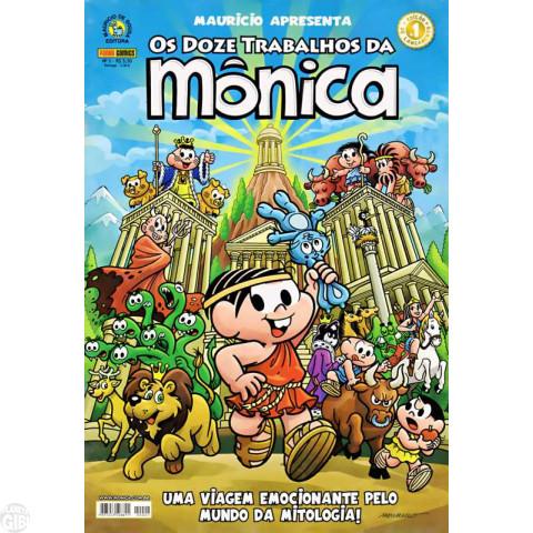 Mauricio Apresenta [Panini] nº 001 jan/2008 - Os Doze Trabalhos da Mônica