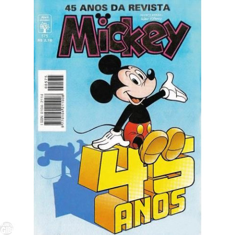 Mickey nº 575 out/1997 - 45 Anos da Revista