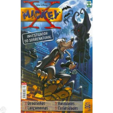 Mickey X nº 001 jun/2003 - Formato Americano