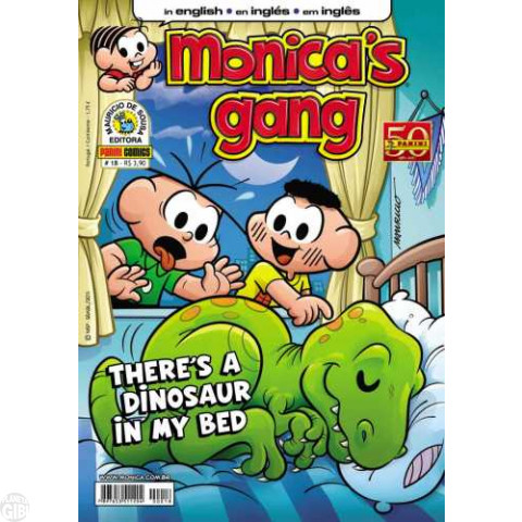 Monica's Gang nº 018 mai/2011 - Revista em Inglês - There's a Dinosaur in My Bed