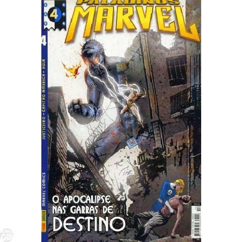Paladinos Marvel [Panini] nº 004 abr/2002 - Justiceiro | Quarteto Fantástico | Capitão América | Hulk
