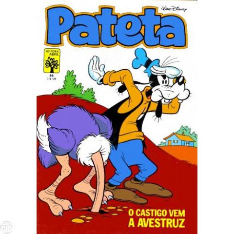 Pateta [1ª série] nº 016 mar/1983 - O Castigo Vem a Avestruz - Vide detalhes