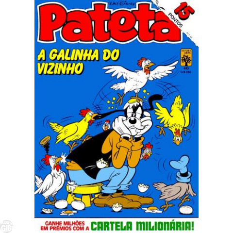 Pateta [1ª série] nº 040 fev/1984 - Acossado pela Coceira - Vide detalhes