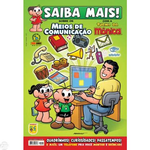 Saiba Mais! Turma da Mônica [Panini - 1s] nº 025 set/2009 - Meios de Comunicação
