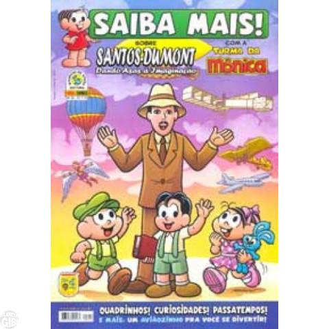 Saiba Mais! Com a Turma da Mônica [Panini - 1ª série] nº 026 out/2009 - Santos Dumont
