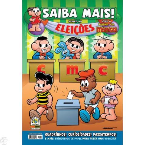 Saiba Mais! Turma da Mônica [Panini - 1s] nº 037 set/2010 - Eleições