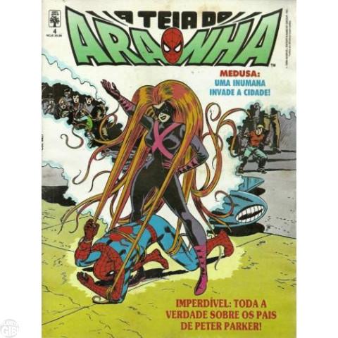 Teia do Aranha [Abril - 1ª série] nº 004 jan/1990 - Aí Vem Medusa! - Os Pais de Peter Parker