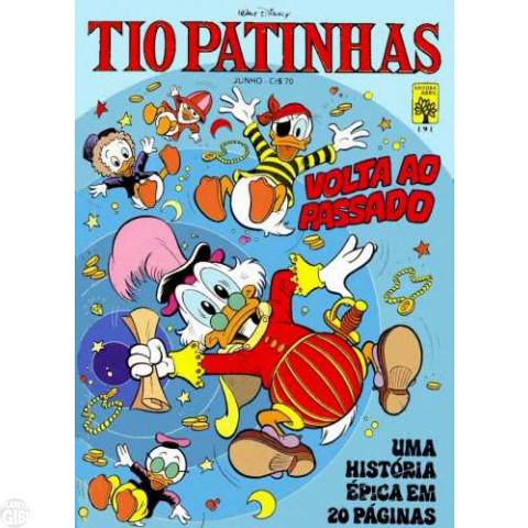 Tio Patinhas nº 191 jun/1981 - Edição Rara Setorizada