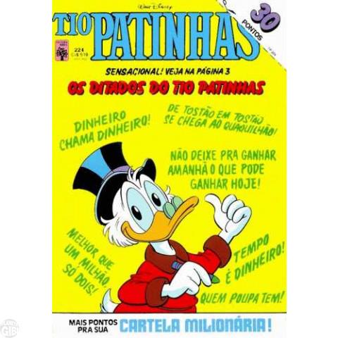 Tio Patinhas nº 224 jan/1984 - Com Cartela Milionária