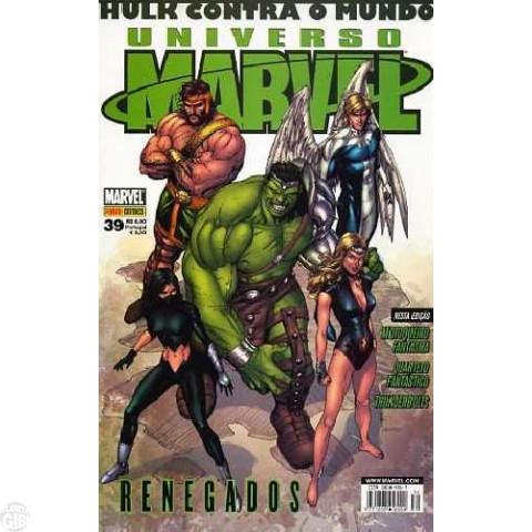 Universo Marvel [Panini - 1ª série] nº 039 set/2008 - Hulk Contra o Mundo