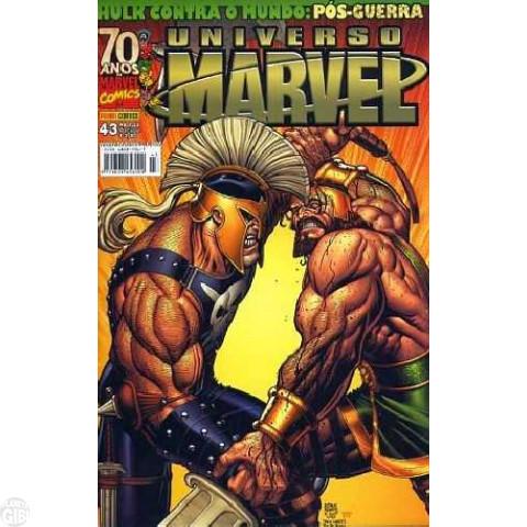 Universo Marvel [Panini - 1ª série] nº 043 jan/2009 - Hulk Contra o Mundo - Com Calendário