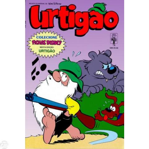 Urtigão [1ª série] nº 076 abr/1990 - Com Ficha Disney Urtigão - Vide detalhes