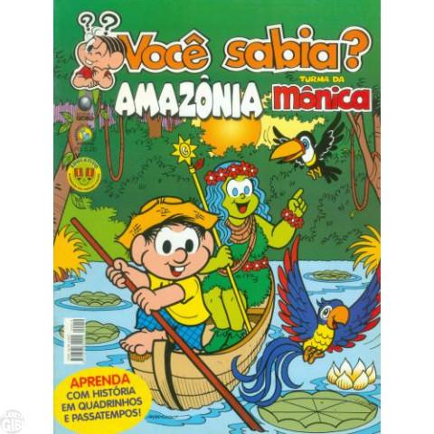 Você Sabia? Turma da Mônica [Globo - 1ª série] nº 019 ago/2005 - Amazônia