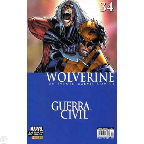 Wolverine [Panini - 1ª série] nº 034 set/2007 - Guerra Civil
