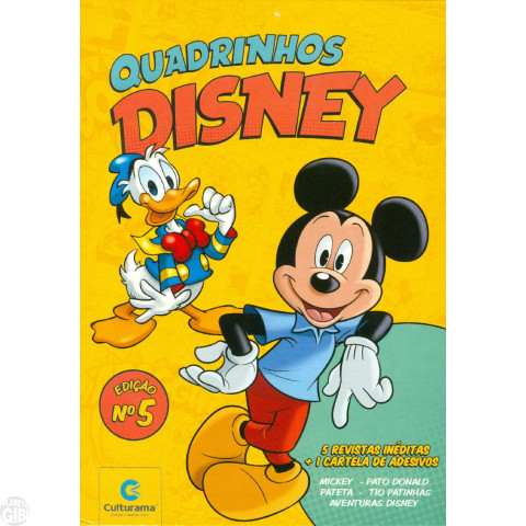 Kit Disney Culturama 005 ago/2019 As 5 Mensais + Caixa + Adesivos