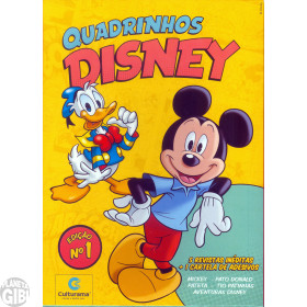 Kit Disney Culturama 001 abr/2019 As 5 Mensais + Caixa + Adesivos