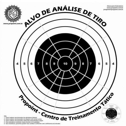 Alvo Analise de Tiro PROPOINT - 10 Unidades Papel Cartão