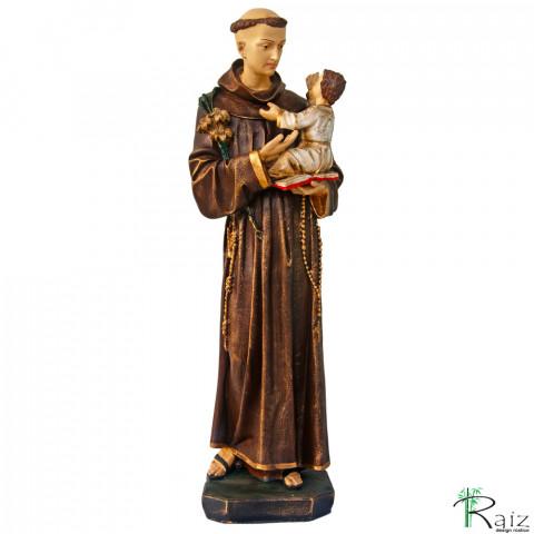 Escultura Santo Antônio com o Menino Jesus em Resina