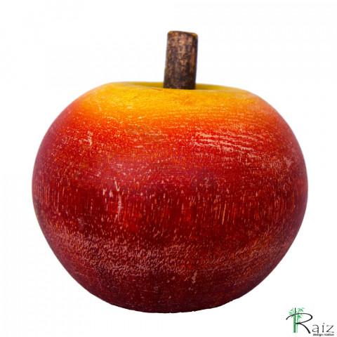 Fruta Decorativa de Mesa Maçã em Madeira Maciça (9,5x9,5x9,5)cm