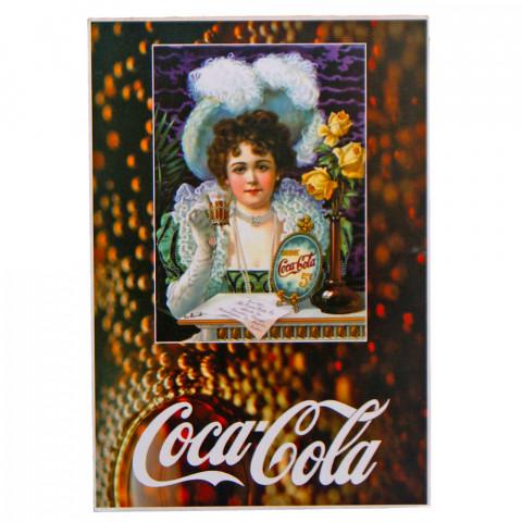 Quadro Coca Cola Retrô Estilo Placa de MDF Adesivada 20x29 cm
