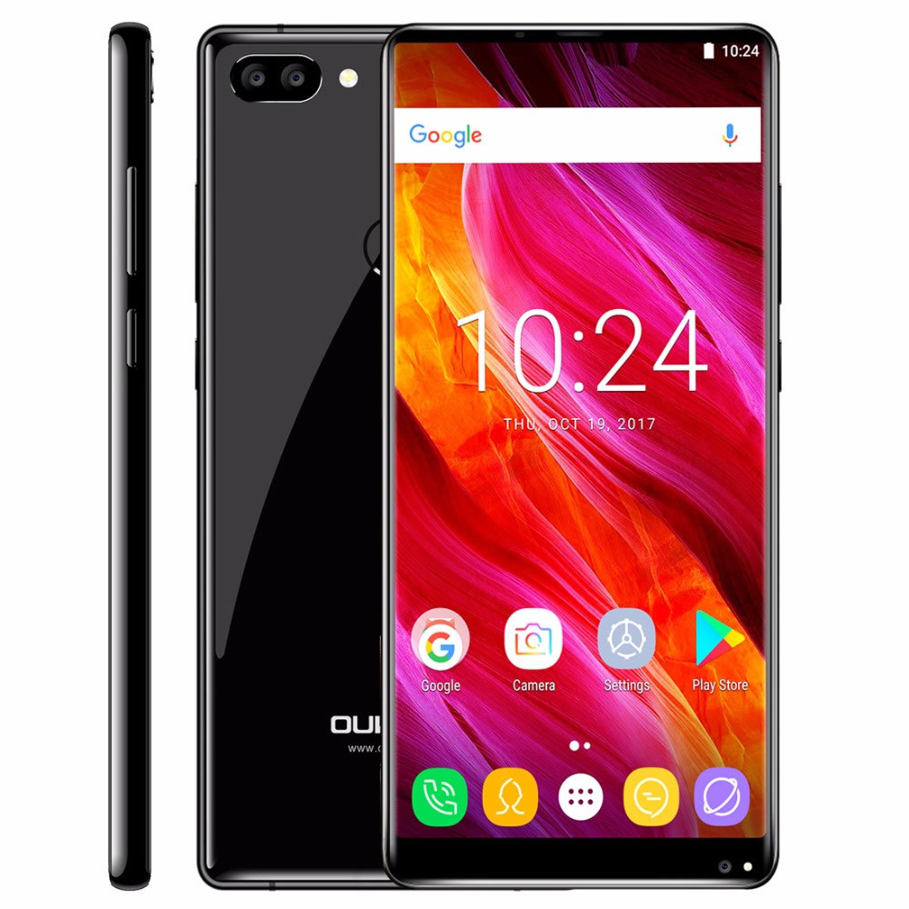 """Smartphone Oukitel Mix 2 - 5.99"""" FHD+ And. 7.0 Helio P25 Octa 2.39GHz 6/64GB 13/21+2MP"""
