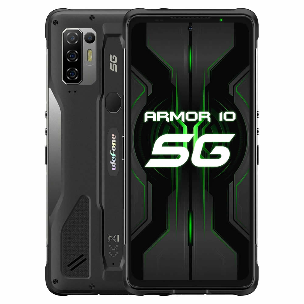 "Smartphone Ulefone Armor 10 5G - 6.67"" FHD+ And. 10 Dimensity 800 Octa 2.0GHz 8/128GB 64/16MP IP68"