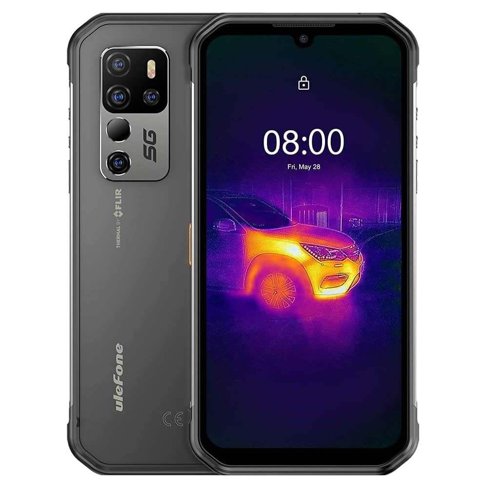 "Smartphone Ulefone Armor 11T 5G - 6.1"" HD+ And. 10 Dimensity 800 Octa 2.0GHz 8/256GB 48MP TÉRMICA IP68"