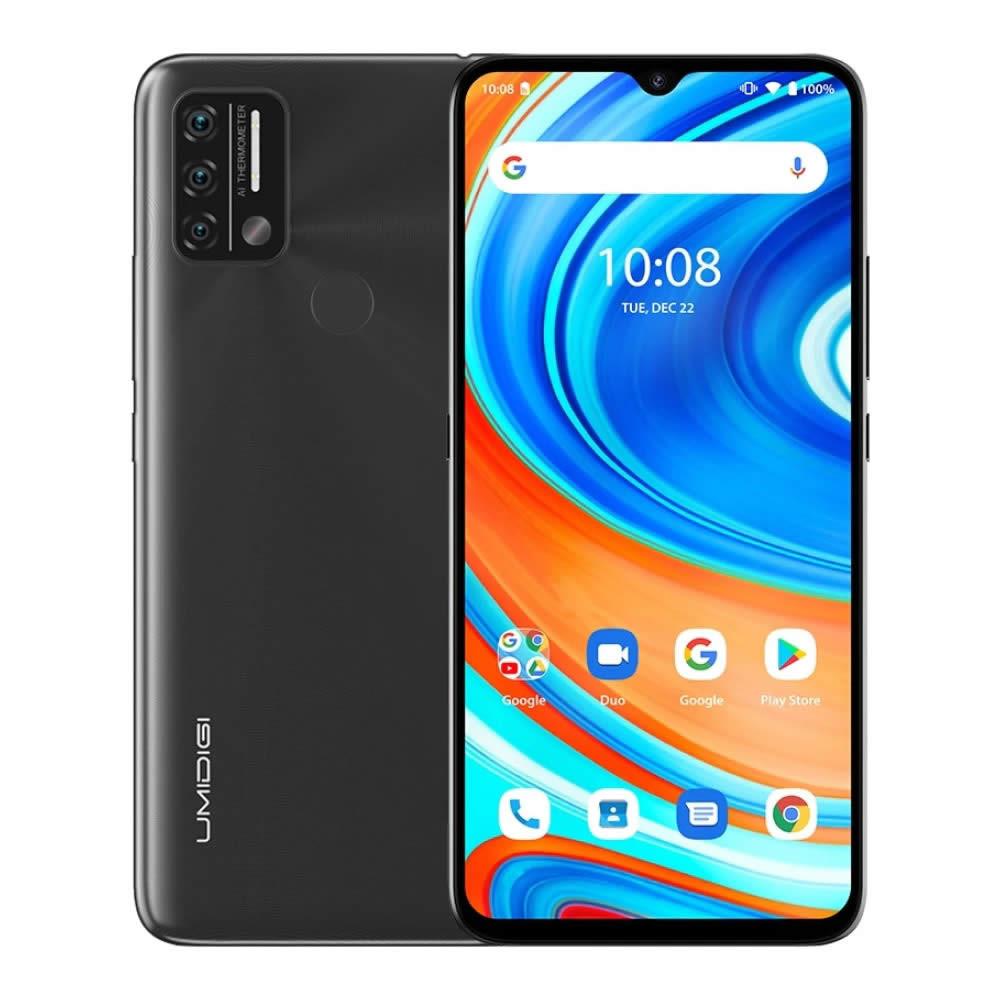"Smartphone UMIDIGI A9 - 6.3"" FHD+ And. 11 Helio G25 Octa 2.0GHz 3/64GB 13/8MP Termômetro Digital IR"