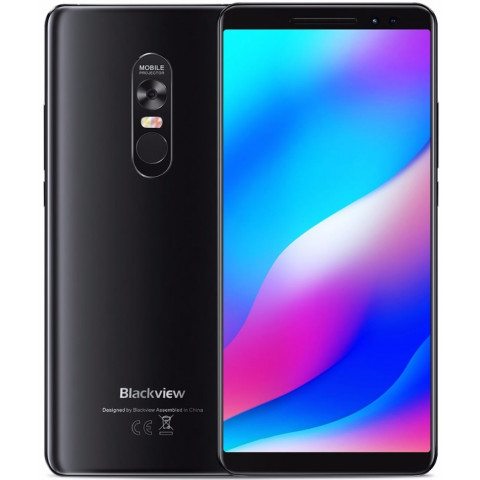 """Smartphone Blackview Max 1 - 6.01"""" FHD+ And. 8.1 Helio P23 Octa 2.5GHz 6/64GB 16/16MP Projetor"""