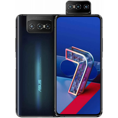 """Smartphone ASUS Zenfone 7 - 6.67"""" FHD+ And. 10 Snapdragon 865 Octa 2.84GHz 128GB 64MP Flip"""