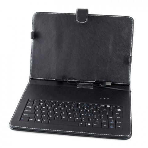 Case (Capa) com Teclado USB Normal Mini ou Micro Para Tablets de 7 Polegadas