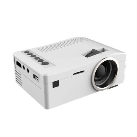 """Mini Projetor UC18 Mini LCD (320x180) FHD 1080P Projeção 10"""" a 60"""" 48 LUX 500:1 HDMI AV Cartão SD USB"""