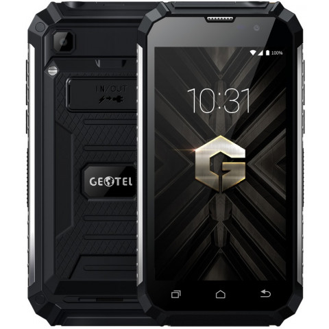 "Smartphone Geotel G1 - 5.0"" HD And. 7.0 MTK6580A Quad 1.3GHz 16GB 2/8MP Lanterna Power Bank IP68"
