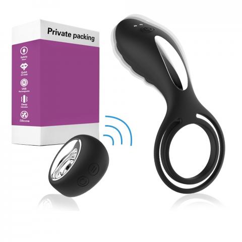 Anel peniano testicular com controle de 12 modos de vibração recarregável - slipper couple