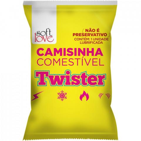 CAMISINHA COMESTÍVEL TWISTER SOFT LOVE