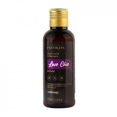Óleo corporal e massagem love chic – êxtase - 120 ml